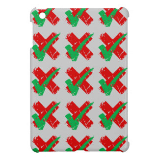 Maybe Tick and Cross Pattern Case For The iPad Mini
