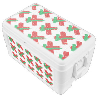Maybe Tick and Cross Pattern Chest Cooler