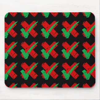 Maybe Tick and Cross Pattern Mouse Pad