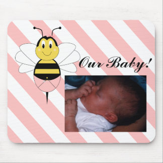 MayBee Bumble Bee Baby Picture Mousepad