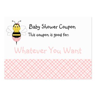 MayBee Bumble Bee Baby Shower Coupon Business Cards