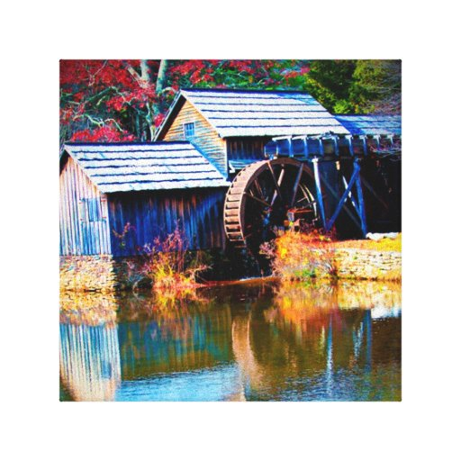 Mayberry Mills fall slendar Stretched Canvas Print