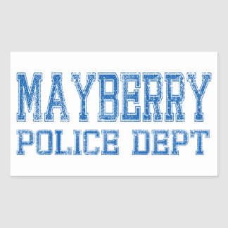 Mayberry Police Dept. Rectangle Sticker
