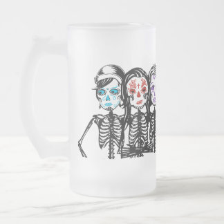 mayday : color touched frosted glass beer mug