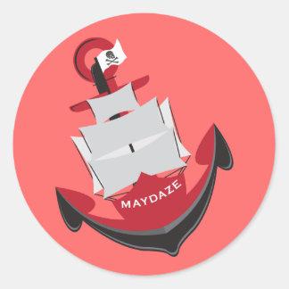 maydaze anchor classic round sticker