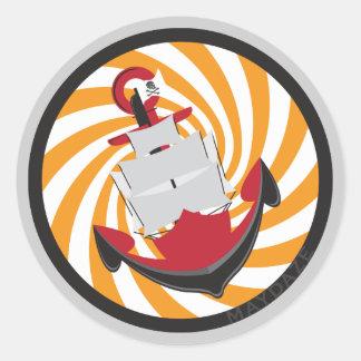 maydaze dizzy anchor classic round sticker