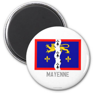 Mayenne flag with name magnets