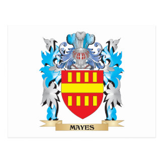 Mayes Coat of Arms - Family Crest Postcard