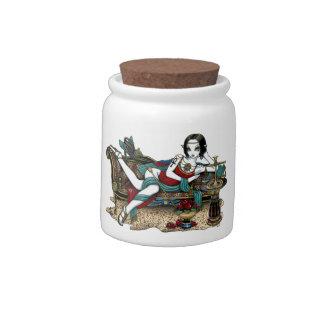 Mayet Egyptian Goddess Maat Angel Porcelain Jar