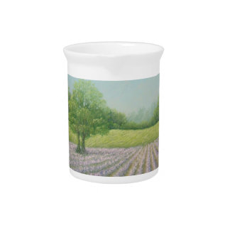 Mayfield Lavender in Bloom, Carshalton, Surrey Drink Pitcher