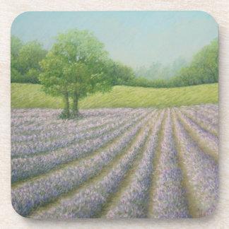 Mayfield Lavender in Bloom Hard Plastic Coasters