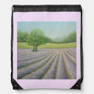 Mayfield Lavender in Bloom Pastel Drawstring Bag