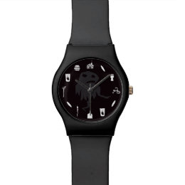 """Mayfield Time"" Meat Baby Watch - in Black"