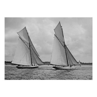 Mayflower and Galatea Start America's Cup 1886 Poster