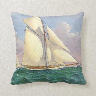 Mayflower Beats Galatea 1886 Throw Pillow