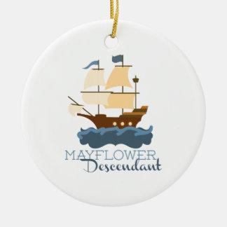 Mayflower Descendant Ceramic Ornament