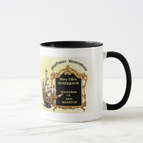 Mayflower Descendant Coffee Mug