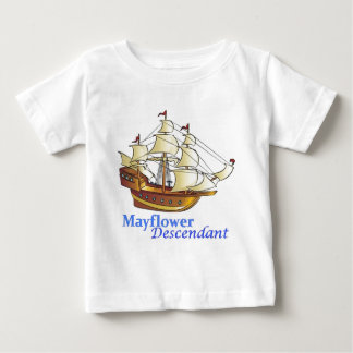 Mayflower Descendant Sailing Ship Baby T-Shirt