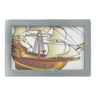 Mayflower Descendant Sailing Ship Belt Buckle
