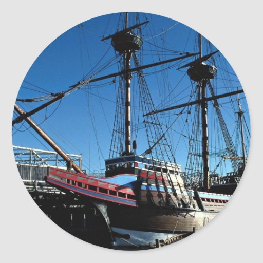 Mayflower II, hito histórico nacional, Plymouth Pegatina Redonda