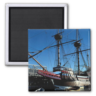 Mayflower II, National Historic Landmark, Plymouth 2 Inch Square Magnet