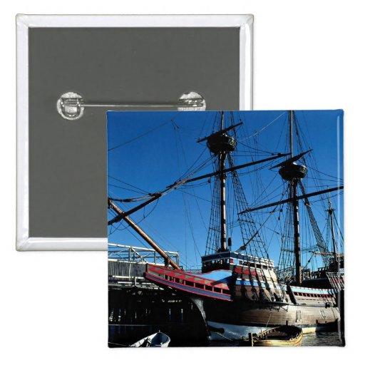 Mayflower II, National Historic Landmark, Plymouth Pinback Button