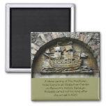 Mayflower - imán de talla de piedra de la acción