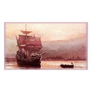 Mayflower in the Hudson Harbor Business Cards