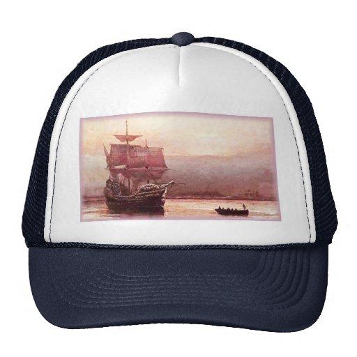 Mayflower in the Hudson Harbor Hat