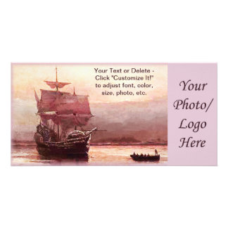 Mayflower in the Hudson Harbor Photo Cards