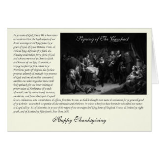 Mayflower Pilgrim Fathers - Signing of the Compact Card