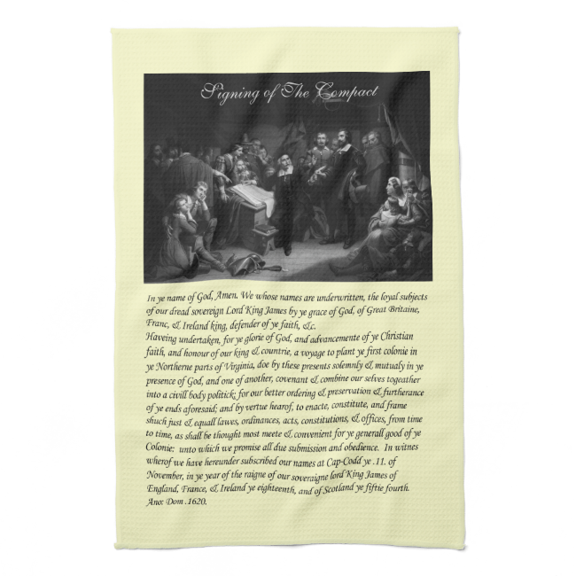 Mayflower Pilgrim Fathers - Signing of the Compact Hand Towel