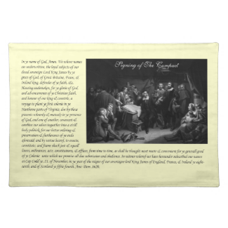 Mayflower Pilgrim Fathers - Signing of the Compact Placemats