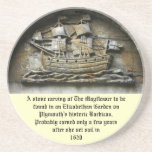 Mayflower - prácticos de costa de talla de piedra posavasos manualidades
