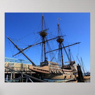 Mayflower sailing ship photography poster