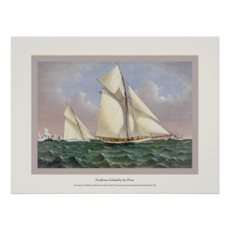 Mayflower Saluted by the Fleet Poster