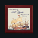 "Mayflower Ship American Ancestors Keepsake Box<br><div class=""desc"">Commemorate the upcoming 2020 anniversary of the Mayflower voyage with this collectible keepsake box. We're partnering with organizations from the US to the UK and the Netherlands to explore the enduring legacy of a remarkable journey. Join us!</div>"