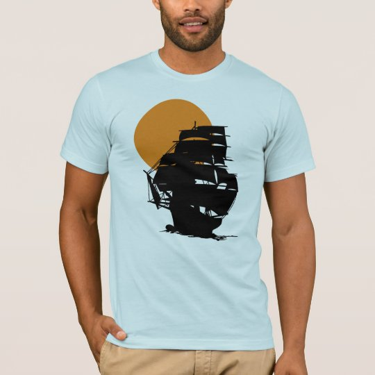 Mayflower ship sailing in the sunset men's t-shirt