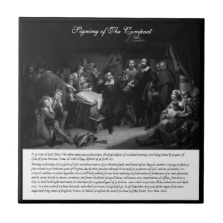 Mayflower - Signing of the Compact Ceramic Tile
