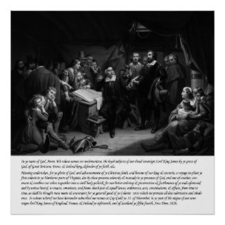 Mayflower - Signing of the Compact Print