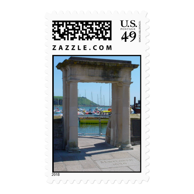 Mayflower Steps Arch, Barbican, Plymouth Postage Stamp