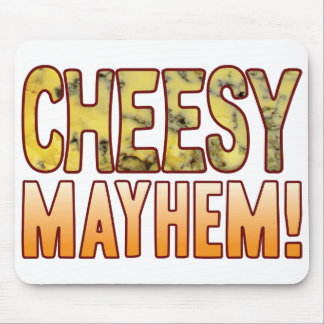 Mayhem Blue Cheesy Mouse Pad