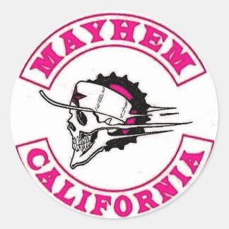 Mayhem Moto Logo Round Sticker