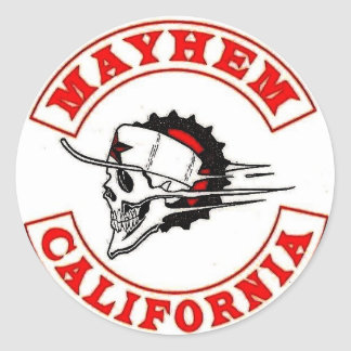 Mayhem Moto Logo Classic Round Sticker