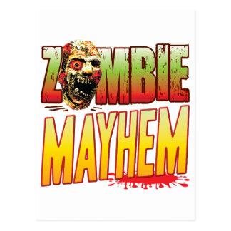 Mayhem Zombie Head Postcard