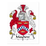 Mayhew Family Crest Postcard