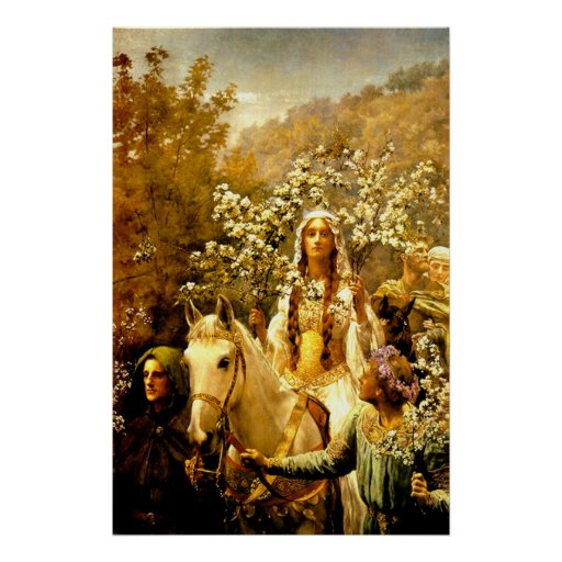 Maying de la reina Guinevere Posters