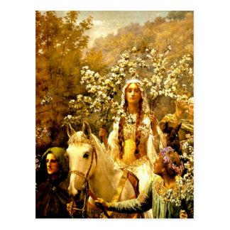 Maying de la reina Guinevere Postales