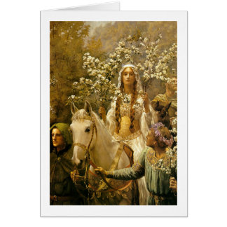 Maying of Queen Guinevere Card
