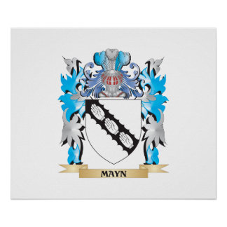 Mayn Coat of Arms - Family Crest Poster